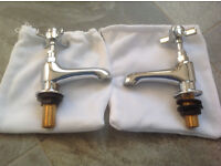 Traditional Edwardian Style Basin Taps - brand new