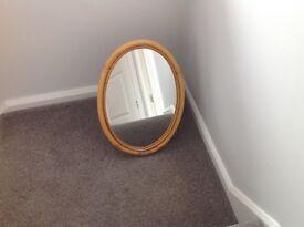 Oval Bamboo Mirror