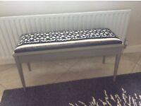 Long upholstered stool