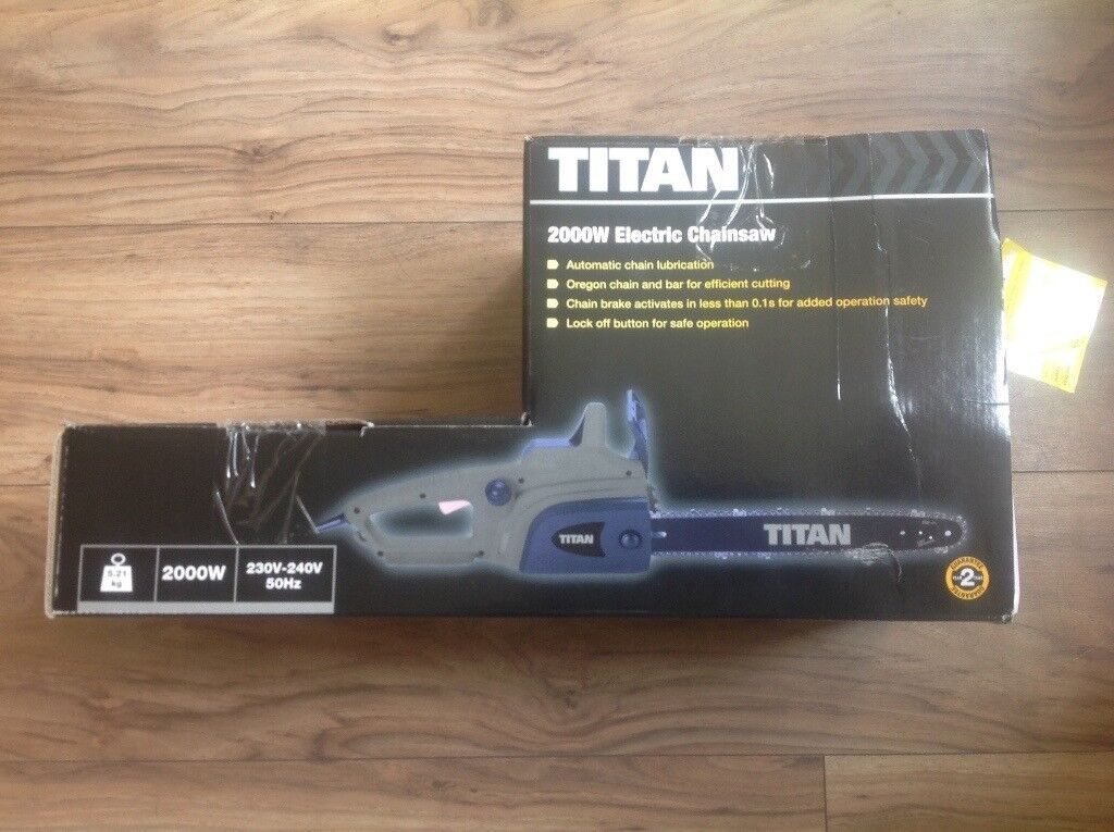 Titan Electric Chainsaw 2000W Model TTB355CHN brand new in box
