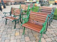 Cast iron garden furniture - benches table chairs etc.