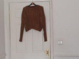 Brown/gold chenille jumper