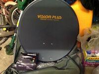 vision plus focus camping satellite dish