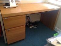 IKEA Malm desk oak finish, 2 drawer, FREE