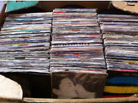 "Large crate of 7"" records"