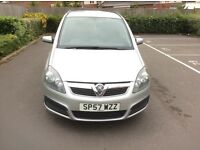2007 Vauxhall Zafira Petrol 1.6 Petrol 7 Seater Manual 2 Owners Full Service History With 8 Service