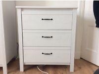 IKEA Brusali chest of 3 drawers
