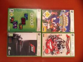 4 XBOX 360 games in cases 2 with instuctions