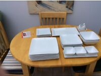 White dinner service mostly M andS in excellent condition
