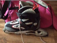 Rollerblades size 8 . Used once only as unwanted gift ! California pro razor inline skates