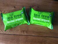 2 x BRAND NEW TEA TREE WIPES