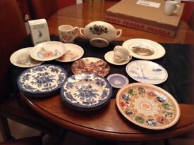 Lot of Wedgwood plates and pottery items, 16 items for £10.00