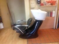 Salon equipment for sale,1 Backwash,3 R.E.M. Hydraulic chairs,2 adjustable chairs 6 customerchairs
