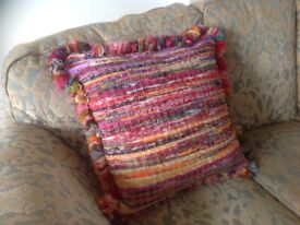 Extra Large hand crafted cushion