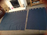 Dunelm Sateen finish curtains and pole
