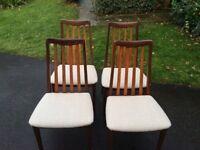 4 G plan Fresco teak dining chairs