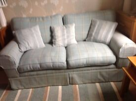 LAURA ASHLEY KENDAL 2-SEATER SOFA CORBY DUCK EGG OFFERS CONSIDERED