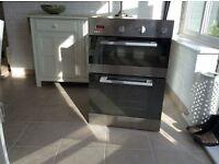Eye level electric double oven