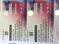 4 x Tickets Radio 3 Weekender Monday 28th May Coventry