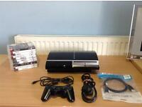PLAYSTATION 3 40GB - 1 CONTROLLER - HDMI CABLE - 10 GAMES