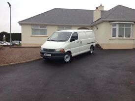 2002 Toyota Hiace LWB ideal carpet fitters van tested 1 year mint condition fully serviced