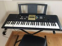 Yamaha Elecronic Keyboard with Stand and Stool