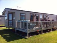 For sale static caravan with beautiful sea views