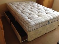 Double Bed with storage drawers in base