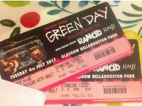 Green Day Tickets x 2 - 4th July - Bellahouston Park Glasgow