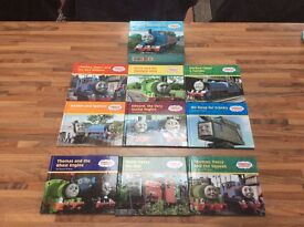 9 THOMAS THE TANK ENGINE BOOKS. 6 ARE IN A BOXED SET PLUS 3 ADDITIONAL BOOKS, EXCELLENT CONDITION