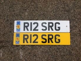 R12 SRG Car number plate