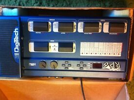 DIGITECH RP6 GUITAR EFFECTS PROCESSOR / FOOT CONTROLLER & PREAMP AS NEW BOXED WITH USER MANUAL