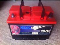Dual purpose battery, Car / Liesure battery 100Amp/Hrs