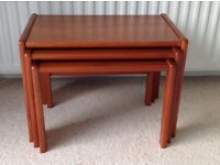 Nest of Tables + Occasional Table - Lovely wood nest of three tables + matching Occasional Table.