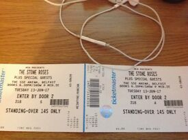 2 STANDING TICKETS FOR THE STONE ROSES AT SSE ARENA BELFAST ON TUE 13TH JUNE