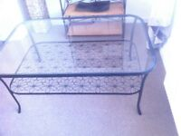 Toughened glass coffee table