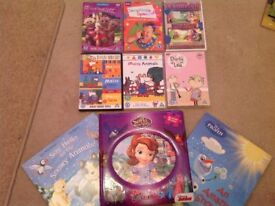 Bundle of childrens books and DVDs, mr tumble, maisy, in the night garden