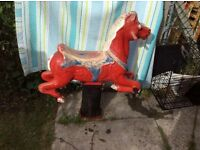 X2 original vintage Wicksteed park spring horse rides