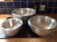 NEW Brabantia Stainless Steel Mixing Bowls