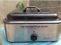 Massage stone heater
