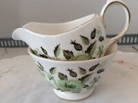 Colclough Sedgley Bone China Milk Jug & Sugar Bowl.