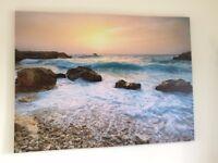 Picture, Beach Scene 110cmWx90cmH