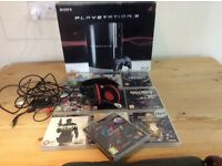 Sony PS3 boxed with 9 games