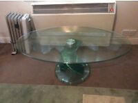 Beautiful heavy solid glass table