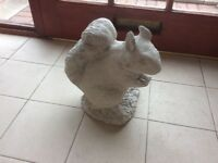 Concrete garden squirrel ornament