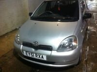Toyota Yaris GLS, Year 2001 On 51 Plate, 5 Doors Manual, 1 Little Engine, 46000 Mileage, Air-Cond.
