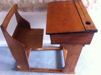 Wooden children's school desk