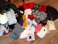 Large bundle of mixed clothes high street brands