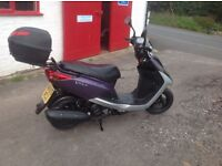 2009 Yamaha 125 four stroke scooter