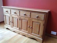 Solid pine handmade pine sideboard / dresser